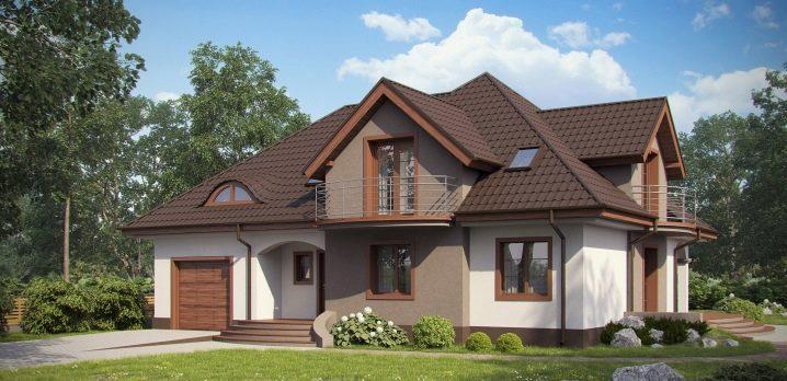 Проекты домов с мансардой и гаражем
